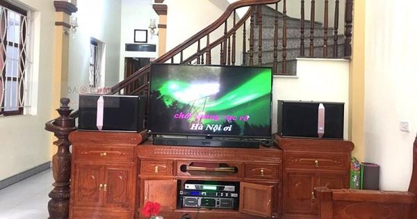 Dàn karaoke JBL cho gia đình anh Quỳnh ở Mỹ Đức (JBL Ki510, JBL KX180, SAE Lexpro PXM7, UGX12 Luxury)
