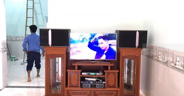 Dàn karaoke JBL của gia đình anh Trà ở Trảng Bom (JBL Ki512, SAE Lexpro PXM7, JBL KX180, BCE U900 Plus New)