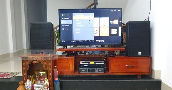 Lắp đặt dàn karaoke cho gia đình chú Minh ở Quảng Nam (Alto AT2000, Lexpro PXM7, DSP-9000, BBS B900)