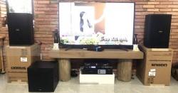 Lắp đặt dàn karaoke hay cho gia đình anh Phong ở Củ Chi (Domus 6100, NS-SW100, Famous 3208, 9200+ Bluetooth, EU900MH Black)