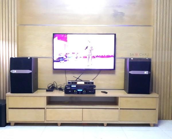Lắp đặt dàn karaoke JBL cho gia đình anh Đoàn ở Hải An (JBL Ki512, Yamaha NS-SW300, AAP TD8004, DSP-9000, BCE UGX12 Gold)