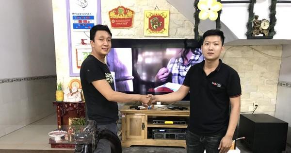 Lắp đặt dàn karaoke JBL cho gia đình anh Vũ ở Biên Hòa (6120 MKII, lexpro PXM7, DSP-9000 Black, BCE UGX12 Gold)