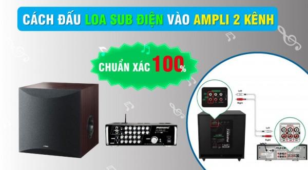 Cách đấu loa Sub điện vào amply 2 kênh chuẩn xác 100%