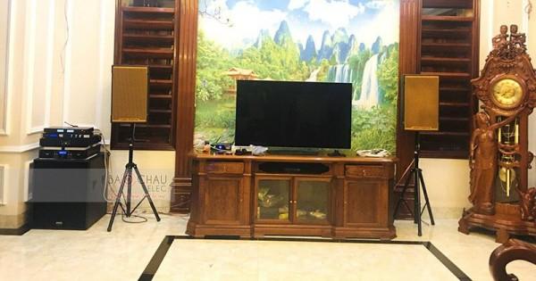 Dàn karaoke cao cấp gia đình anh Huấn ở Bãi Cháy (KTWO 12, RXW 18C, BCE 9200, AAP TD8004, JBL KX180, JBL KX180)