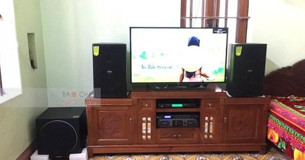 Dàn karaoke Domus cho gia đình anh Tuấn ở Quế Võ, Bắc Ninh (Domus DP6120, sub Paramax 1000, Lexpro PXM7, DSP-9000, U900 PlusX)