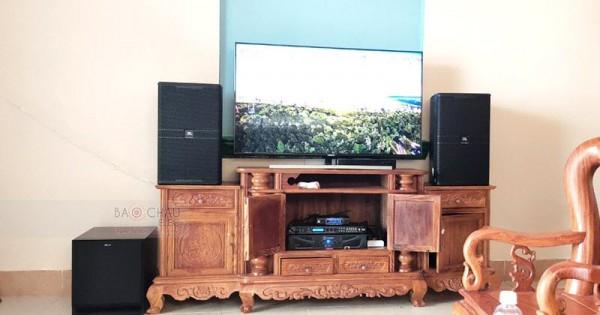 Dàn karaoke JBL cao cấp cho gia đình anh Đoan ở Long An (JBL Kp4012, SPL120, Xli2500, DP9200+, JBL VM300)