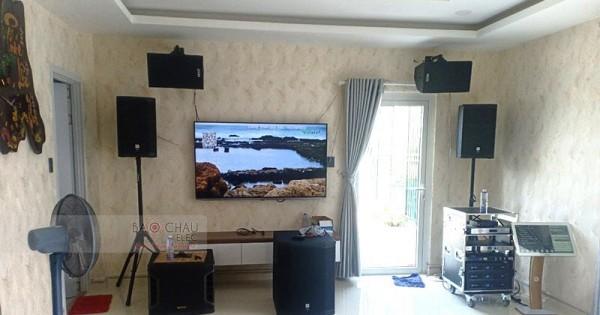 Dàn karaoke JBL VIP gia đình anh Vũ ở Hooc Môn (JBL PRX412M, PRX418S, JBL VM300, Crown KVS500, KX180)