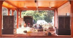 Lắp đặt dàn âm thanh hội trường cho khu du lịch ở Mộc Châu (Catking 2.6, V218S, PQM13, Z-2000B, DBX 2231, BCE UGX12)