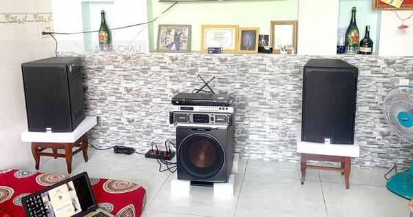 Lắp đặt dàn karaoke Alto cho gia đình anh Thiện ở Long Xuyên (Alto AT2000, Paramax 2000, Lexpro PXM5, DSP-9000, U900 PlusX)