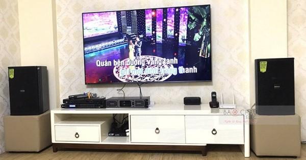 Lắp đặt dàn karaoke Domus cho gia đình anh Nam ở Hoàng Mai (Domus DP6100, PXM5, DSP-9000, U900 PlusX)