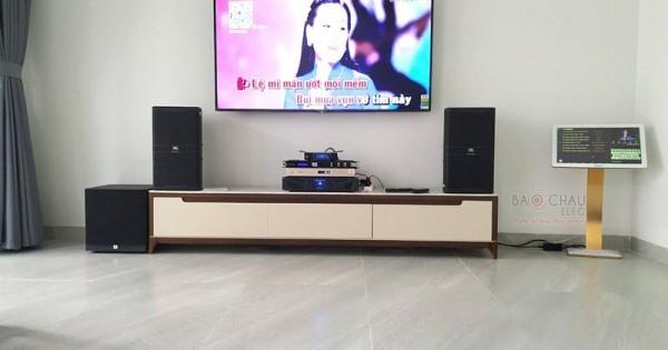 Lắp đặt dàn karaoke JBL cho gia đình anh Trí ở Bình Thạnh (JBL 4010, JBL A120P, Crown Xli2500, JBL KX180, JBL VM300)