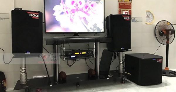 Dàn karaoke Alto cho gia đình anh Tâm ở Trảng Bom, Đồng Nai (Alto TX212, TS312, DSP-9000, AAP K500)