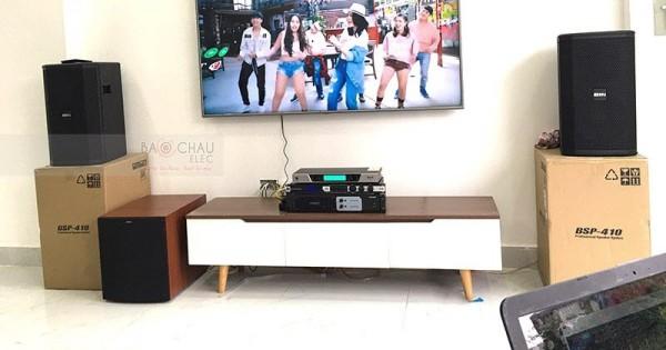 Dàn karaoke BIK của gia đình anh Chuyển ở Hoài Đức, HN (BIK BSP 410, Jamo J12, Famous 3206, JBL KX180, UGX12 Luxury)