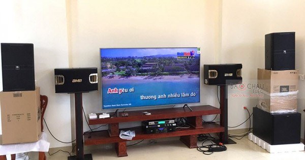 Dàn karaoke cao cấp cho gia đình anh Thanh ở Phú Thọ (JBL KP4012, BMB 900SE, SPL150, AAP TD8004, JBL KX180, BCE UGX12)