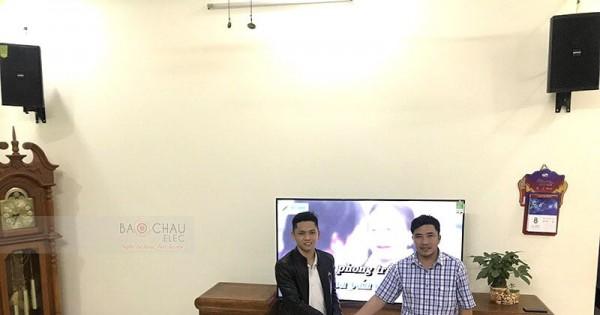 Dàn karaoke Domus cho gia đình anh Chí ở Thanh Hóa (Domus DP6100, SAE TX650Q, X5 Plus, BCE UGX12)