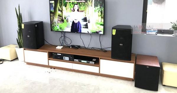 Dàn karaoke Domus của gia đình anh Chính ở Hoằng Hóa, Thanh Hóa (Domus DP6100, Bksound DP-3500, U900 PlusX, Plus 4TB, 22 inch)