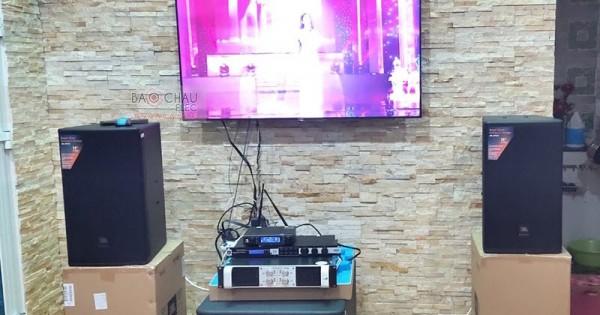 Dàn karaoke JBL cao cấp cho gia đình anh Quyền ở Vũng Tàu (JBL MTS12, JBL KP6018S, Famous 7406, JBL KX180, JBL VM300)