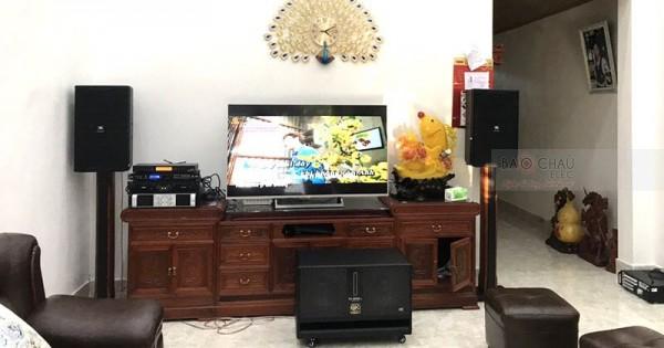Lắp đặt dàn karaoke vip cho gia đình anh Chu ở Lạng Sơn (JBL 4012, BMB 3012, BIK W66 Plus, Famous 7406, SAE CT6000, 9200 Bluetooth)