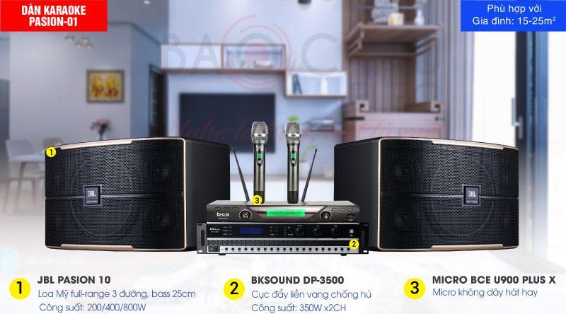 Dàn karaoke Pasion 01 chính hãng, hiện đại