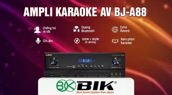 Amply karaoke BIK BJ-A88 thế hệ mới, hiện đại vượt qua mọi đối thủ