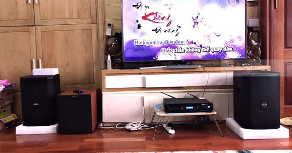 Dàn karaoke BIK gia đình anh Hoàng ở Giảng Võ (BSP 412, Jamo J12, BKsound DP8000)