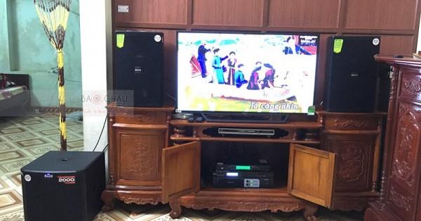 Dàn karaoke Domus gia đình anh Khải ở Quế Võ, Bắc Ninh (Domus DP6120, Alto TS312, Famous 3206, X5 Plus, U900 PlusX)