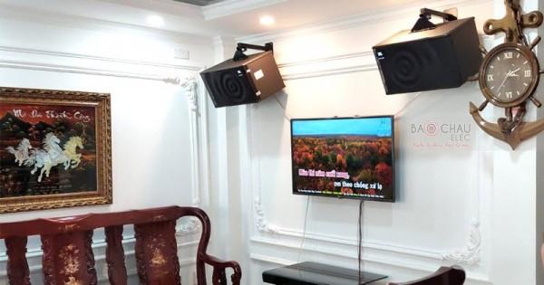 Dàn karaoke JBL gia đình anh Sơn ở Tân Bình (JBL MK10, SAE Lexpro PXM7, DSP-9000, U900 PlusX)