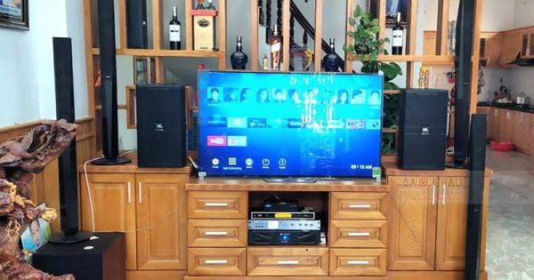 Dàn karaoke JBL gia đình anh Tuyền ở Bình Chánh (JBL KP4010, JBL A120P, Xli2500, K9800 New, UGX12 Gold, Hanet 2TB)