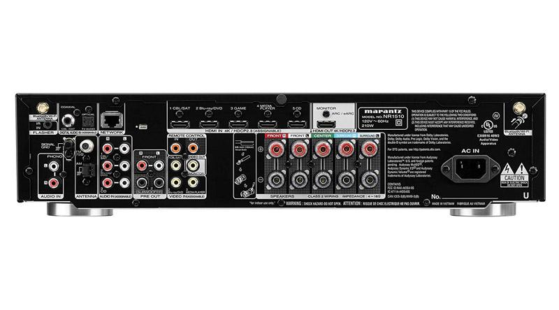 Amply AV Receiver Marantz NR1510 hệ thống cổng kết nối đa dạng