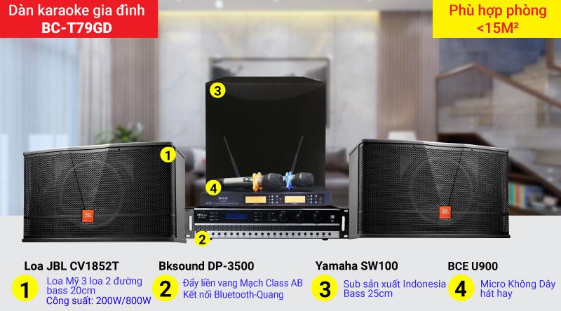 Dàn karaoke gia đình BC-T79GD