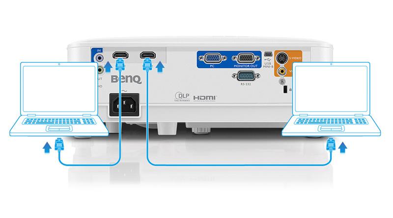 Máy chiếu BenQ MW550 mặt sau