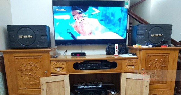 Dàn karaoke gia đình anh Long ở Hà Giang (BIK BJ-S668, BIK BJ-A88)