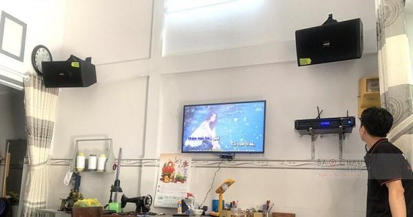 Dàn karaoke gia đình anh Phúc ở Ninh Kiều, Cần Thơ (Domus DP6100, BW 604No8, Bksound DP8000)