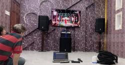 Dàn karaoke JBL gia đình anh Hiệp ở Cần Thơ (PRX 415M, PRX418S, Xli 2500, KX180, Plus 4TB, JBL VM300)