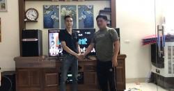 Dàn karaoke JBL gia đình anh Trọng ở Phú Xuyên, HN (JBL Ki512, Paramax 2000, AAP TD8004, DSP-9000)