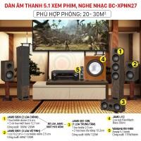 Dàn âm thanh 5.1 xem phim, nghe nhạc BC-XPNN27