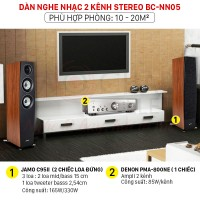 Dàn nghe nhạc 2 kênh Stereo BC-NN05 (Jamo C95II + Denon PMA-800NE)