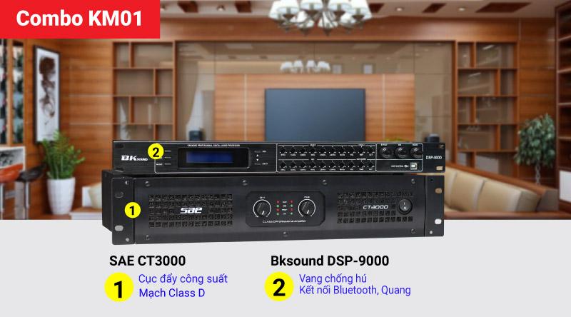 Combo KM01 (SAE CT3000 + Bksound DSP-9000)
