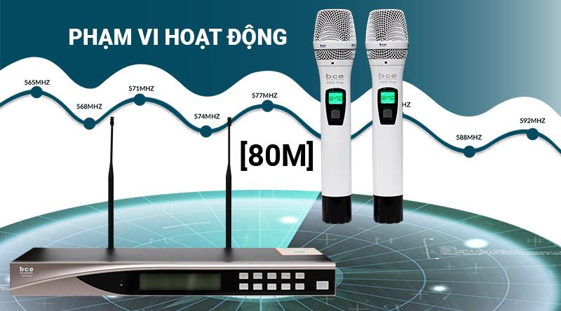 Micro không dây BCE U900 Plus New (2020) cho phạm vi hoạt động rộng