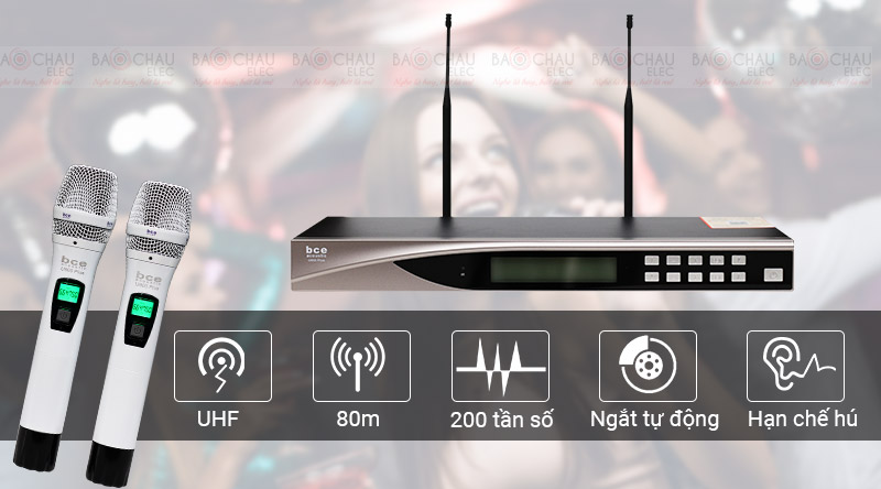 Micro BCE U900 Plus hát karaoke siêu nhạy, lọc âm tốt