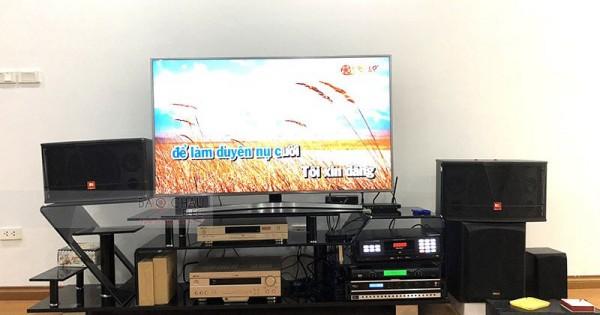 Dàn karaoke gia đình anh Cường ở Hoàng Đạo Thúy (JBL CV1052T, Bksound DP3500, U900 PlusX, LS3000)