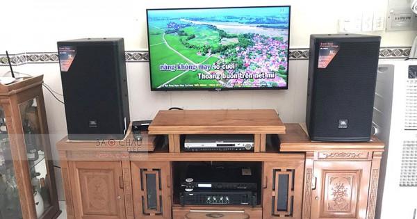 Dàn karaoke gia đình anh Quang ở Nhà Bè (JBL MTS12, SAE TX800Q, X5 Plus)