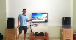 Dàn karaoke gia đình anh Thắng ở Cẩm Lệ, Đà Nẵng (Domus DP6120, BIK VM620A, X5 Plus,  UGX12 Gold)