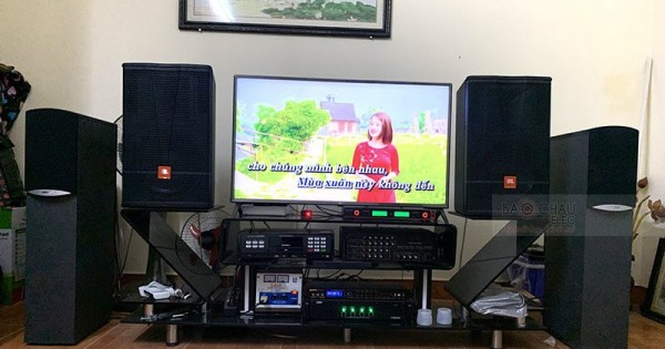 Dàn karaoke JBL gia đình anh Thiều ở Mê Linh, HN (JBL CV1270, SAE TX800Q, BPR-8500, LS-3000)