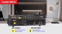 Combo đẩy vang KM16 (BIK VM620A + BIK BPR-8500)