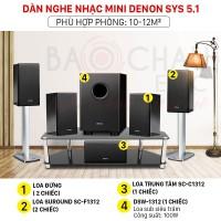 Dàn nghe nhạc mini Denon SYS 5.1