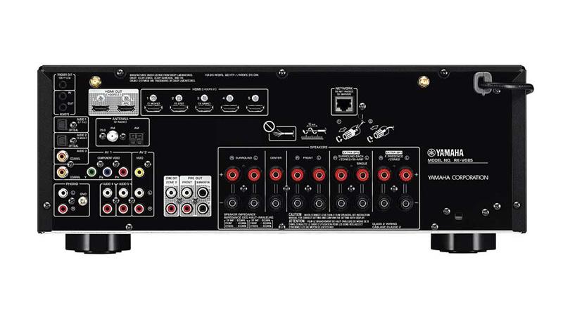 Amply Yamaha RX-V685 mặt sau