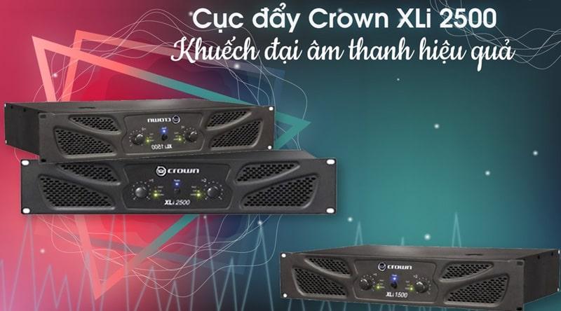 Cục đẩy 2 kênh Crown XLi2500