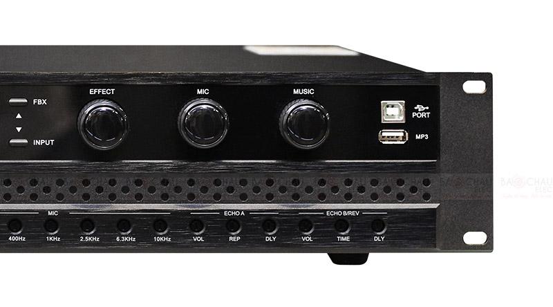 Cục đẩy liền vang BKsound DP3600 mặt trước 3