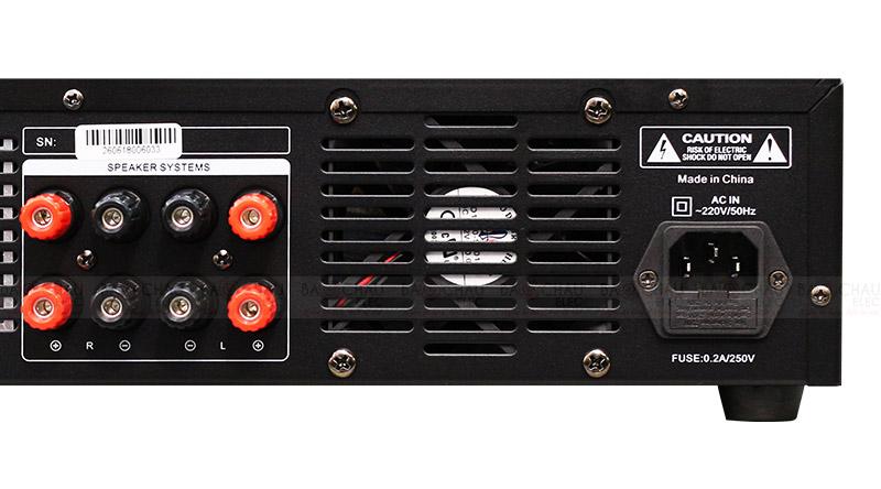 Cục đẩy liền vang BKsound DP3600 mặt sau 4